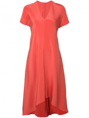 Платье с V-образным вырезом Peter Cohen. Цвет: жёлтый и оранжевый