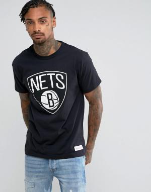Mitchell & Ness Футболка NBA Brooklyn Nets. Цвет: черный