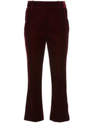 Укороченные расклешенные брюки Derek Lam 10 Crosby. Цвет: красный