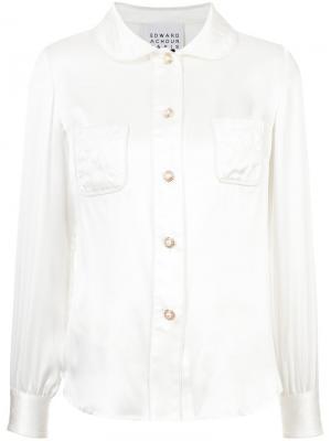 Классическая рубашка Edward Achour Paris. Цвет: белый