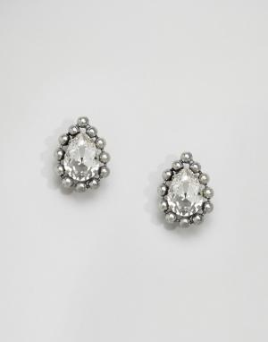 Krystal Серьги с кристаллами Swarovski. Цвет: серебряный