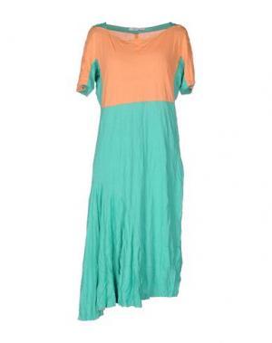 Платье до колена OBLIQUE CREATIONS. Цвет: зеленый
