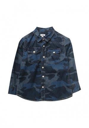 Рубашка джинсовая Blukids. Цвет: синий