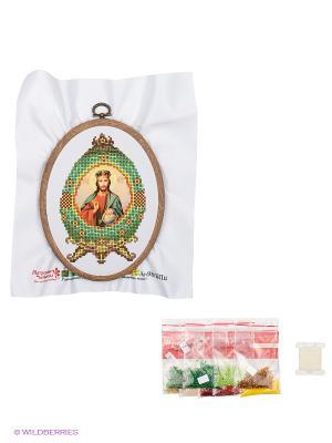 Набор для вышивания с бисером Вседержитель Матренин Посад. Цвет: белый, зеленый
