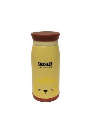 Термос 0,33 л с животными Eleon. Цвет: светло-коричневый, светло-желтый, светло-оранжевый