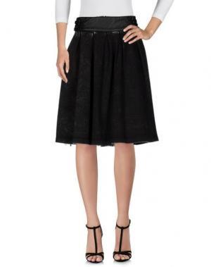 Джинсовая юбка RELISH. Цвет: стальной серый