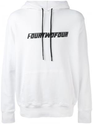 Толстовка Fourtwofour 424 Fairfax. Цвет: белый