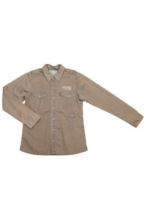 Рубашка Puledro. Цвет: коричневый