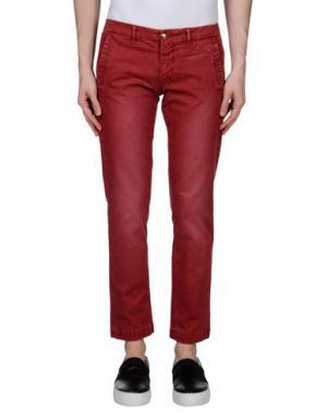 Повседневные брюки MONOCROM. Цвет: кирпично-красный