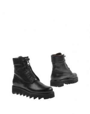 Полусапоги и высокие ботинки ZAMAGNI. Цвет: черный