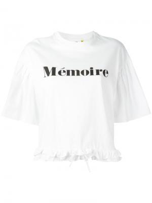 Футболка Mémoire Steve J & Yoni P. Цвет: белый
