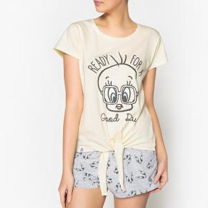Пижама с рисунком, шортами Titi TWEETY !. Цвет: желтый/ серый