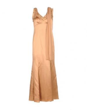 Длинное платье MUSANI COUTURE. Цвет: верблюжий