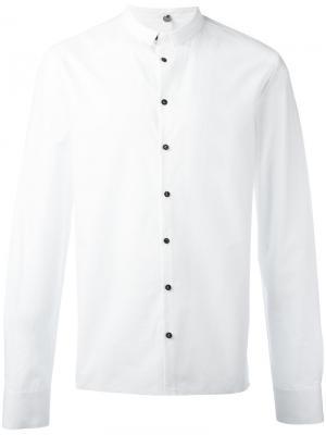 Однотонная рубашка Label Under Construction. Цвет: белый