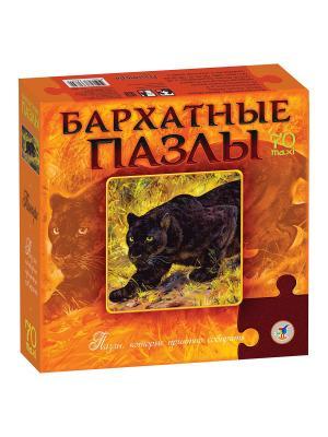 Бархатные пазлы. Пантера (новинка) / черный бархат Дрофа-Медиа. Цвет: оранжевый