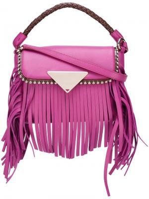 Сумка через плечо Amber Sara Battaglia. Цвет: розовый и фиолетовый