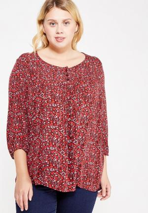 Блуза Ulla Popken. Цвет: бордовый