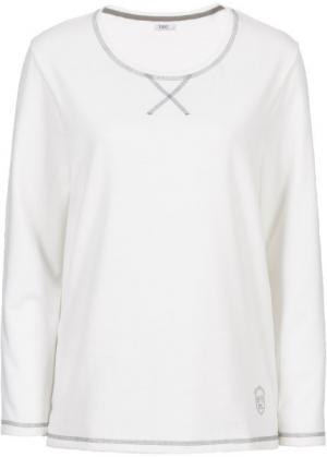 Свитшот с длинным рукавом (цвет белой шерсти) bonprix. Цвет: цвет белой шерсти