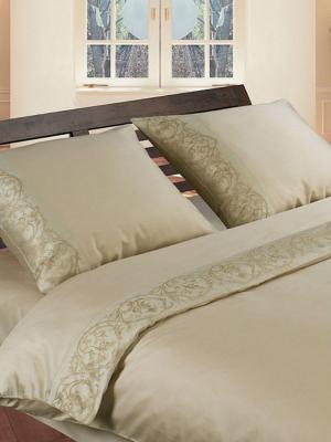 Комплект постельного белья Jardin. Цвет: оливковый, темно-бежевый