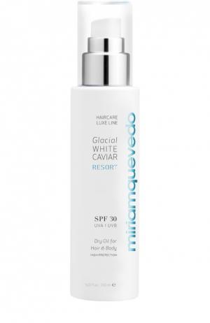 Сухое масло для волос и тела с экстрактом прозрачно-белой икры SPF30 Miriamquevedo. Цвет: бесцветный