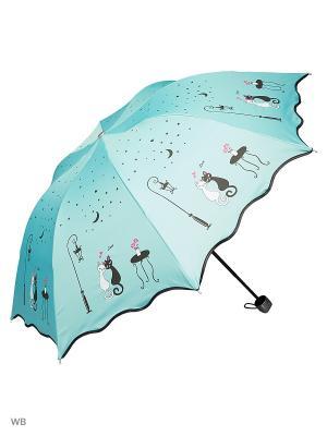 Зонт Modis. Цвет: голубой, светло-голубой, черный