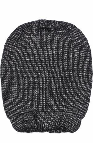 Вязаная шапка Deha. Цвет: черный