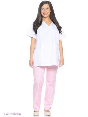 Брюки медицинские Med Fashion Lab. Цвет: бледно-розовый
