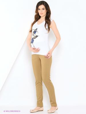 Футболка для беременных impressmama. Цвет: белый, синий