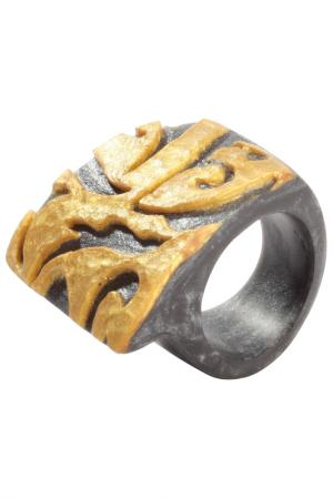 Кольцо Zsiska. Цвет: золотой, черный