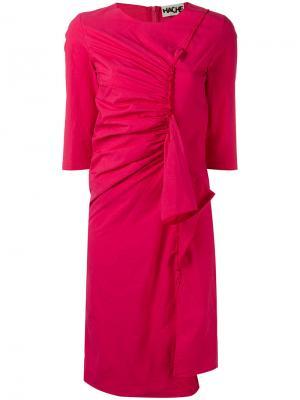 Платье с присборенным передом Hache. Цвет: розовый и фиолетовый