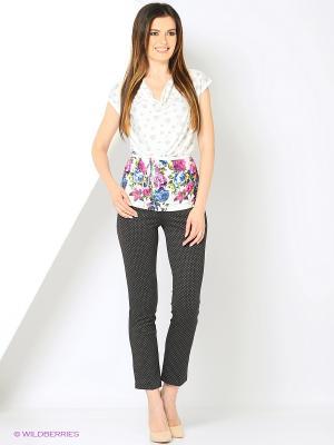 Блузка-топ из мягкой эластичной ткани RIJJINI. Цвет: белый, малиновый, молочный, синий