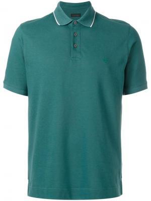 Рубашка-поло Z Zegna. Цвет: зелёный
