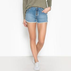 Шорты джинсовые с бахромой  MALO BERENICE. Цвет: деним