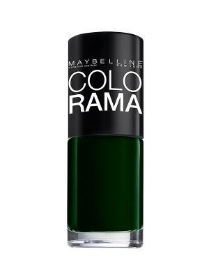 Лак для ногтей Colorama, оттенок 270, Зеленый бархат, 7 мл Maybelline New York. Цвет: зеленый
