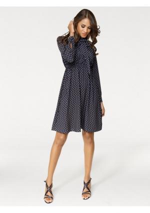 Платье PATRIZIA DINI. Цвет: темно-синий/коньячный