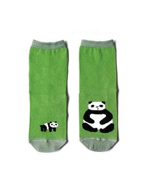 Носки махровые Big Bang Socks. Цвет: салатовый