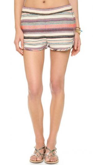 Пляжные шорты в полоску Surf Bazaar. Цвет: полоска