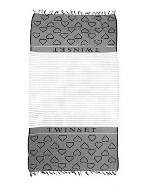 Пляжное полотенце TWIN-SET Simona Barbieri. Цвет: черный