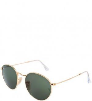 Солнцезащитные очки в металлической оправе Ray Ban. Цвет: золотистый