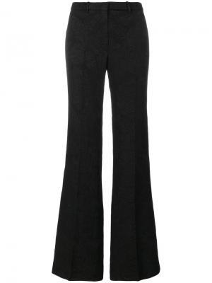 Расклешенные жаккардовые брюки Theory. Цвет: чёрный