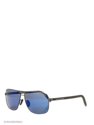 Солнцезащитные очки Porsche Design. Цвет: серый