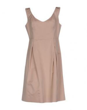 Платье до колена 6267. Цвет: светло-розовый