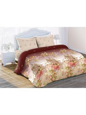 Комплект постельного белья 1,5 бязь Замок Любимый Дом. Цвет: коричневый, бежевый