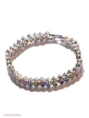 Браслет Lovely Jewelry. Цвет: серебристый, красный, желтый, синий
