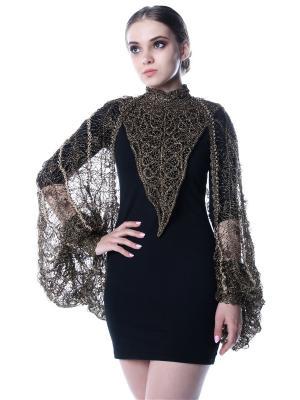 Ожерелье вязаное Черное золото SEANNA. Цвет: черный