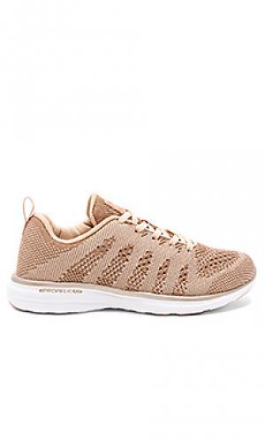 Кроссовки для бега techloom Athletic Propulsion Labs: APL. Цвет: металлический золотой