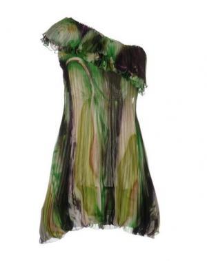 Короткое платье X'S MILANO. Цвет: зеленый