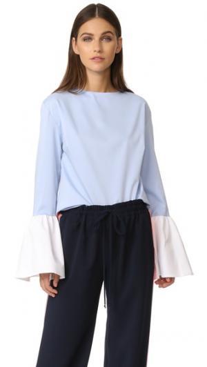 Блуза Belle с контрастной отделкой Style Mafia. Цвет: голубой
