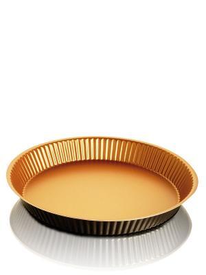 Форма для выпечки рифленая низкая Frabosk. Цвет: оранжевый, черный