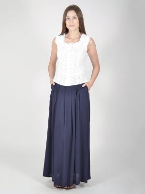 Блузка VISERDI. Цвет: белый